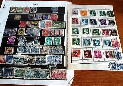 220+ France Stamps, Older Seen, Mainly Fine Used, Good Selection.