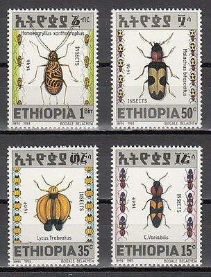 Ethiopia, Scott cat. 1361-1364. Various Insects issue.