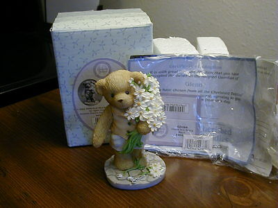 "Cherished Teddies Glenn ""Thank You Beary Much"" With White Daisies"