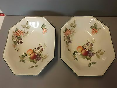 2 x Johnson Brothers Fresh Fruits Oval Serving Dishes