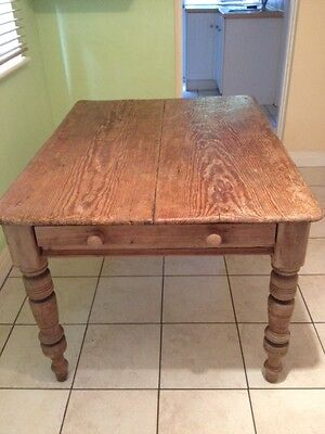 Victorian pitch pine table