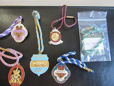 Horse Racing Collection of Annual Badges etc