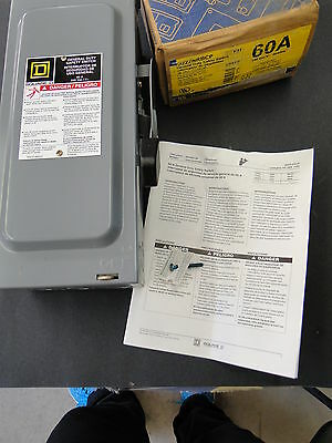 Square D 60A General Duty Safety Switch D222NRBCP
