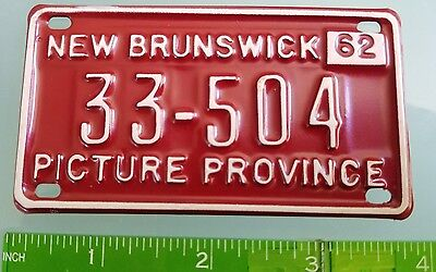 62 Miniature License Plate New Brunswick Canada Cereal Premium Picture Province!