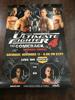 The Ultimate Fighter The Comeback Season 4 Finale Autographed Poster, TUF4, UFC