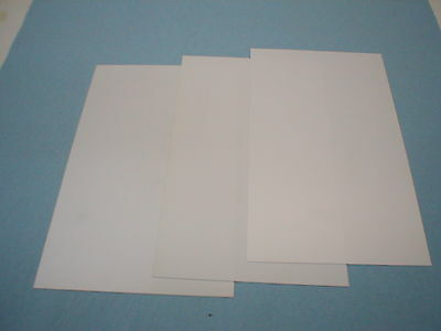 """White Styrene Sheets  (3)  .020"""" thick X 6"""""""" X 10"""""""