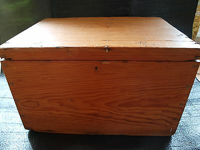 Vintage Pine Chest Trunk  Solid Wood Blanket Box  , Collection  Suffolk