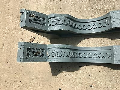 """Pair Large Antique Wood Corbels 25"""" x 15 1/2"""" x 4 1/2"""" architectural salvage"""