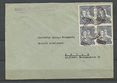 "poland,cover 1 with a ""groszy"" overprint"