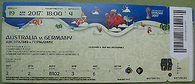 Ticket 2017 Fifa Confed Cup #4 Australien - Deutschland DFB Germany TOP MINT