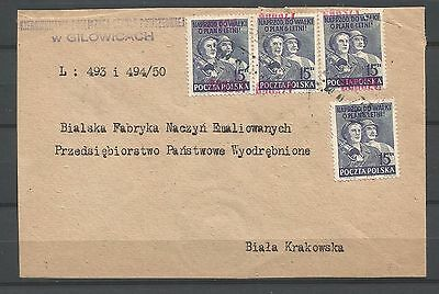 "poland,cover 2 with a ""groszy"" overprint"
