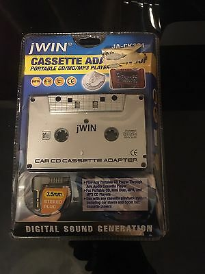 JWIN CASSETTE In Car Audio Tape Cassette To Jack AUX For iPod MP3 adapter