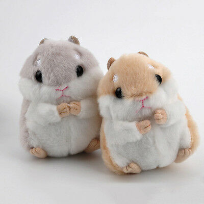 Cute Soft Plush Cartoon Small Hamster Toy Doll Key Chain Stuffed Mouse Toy Gift