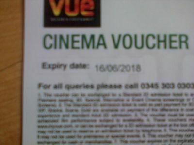 Six - Vue Cinema Tickets - exp 16/06/18