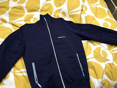 Rare Unusual Vintage Adidas Tracksuit Top Medium Blue