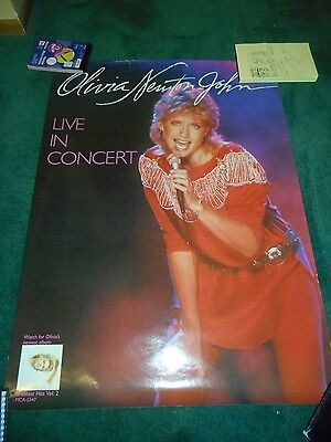 Olivia Newton-John - Live In Concert - Original Single-Sided Promo Poster