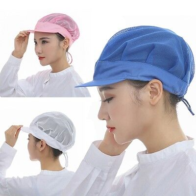 Newly Catering Cap Unisex Chef Bakery Comfort Cap Factory Worker Cosy Mesh Hat
