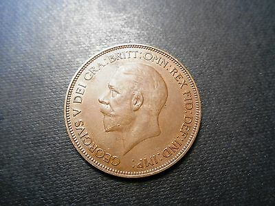 George V  - Penny 1d - 1936