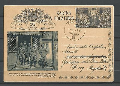 poland,polish legions,post card,used