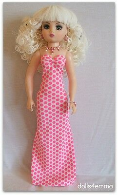 "Cissy Doll Clothes Fashion Handmade Gown + Jewelry Set Madame Alexander  21"" d4e"