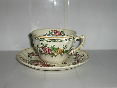 """Vintage Royal Doulton Coffee Cup """"The Cavendish"""" & Saucer """"Wildflower"""". Mismatch"""