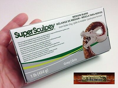 M00879a MOREZMORE 1 lb Super Sculpey Medium Blend Sculpt Model Polymer Clay P20