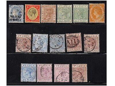 St. Lucia, Lot Of Stamps
