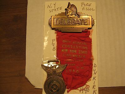 New York State fire assoc. delegate badge