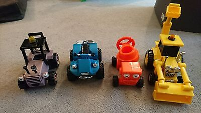 Bob The Builder Toys X 4 Friction Vehicles  Great Condition dizzy scoop