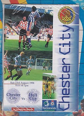 Chester City Programme Collection Hull City & Sunderland SELL OUTS