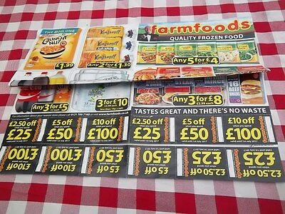 Supermarket Grocery FARMFOODS Vouchers Coupons 10% off savings valid to 1st July