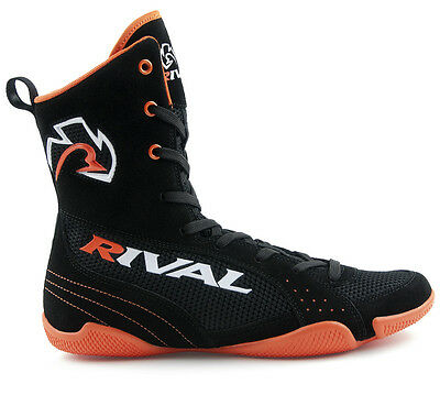 Rival High-Top Pro Fight Boxing Boots - 11 - Black/Orange