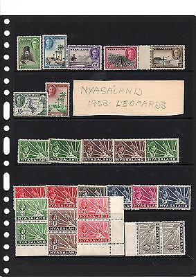 Nyasaland & North Borneo, Lot Of Stamps, 4 Scans