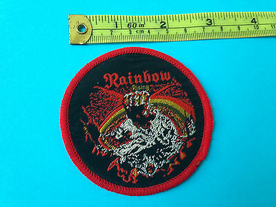 Rainbow rising early 80s sew on patch