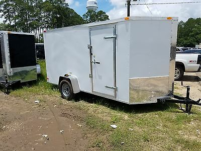 6x12 Enclosed Trailer Cargo Single Axle Factory Direct Pricing Plywood walls