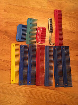 Lot of 12 Horse Mane and Tail Combs