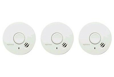 3 x Kidde Optical Smoke Alarms with 10 Year Lithium Battery BRAND NEW