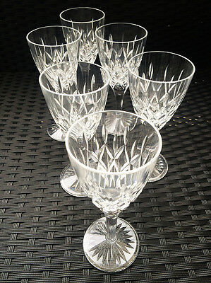 Set of 6 Stuart Crystal Cut Tewkesbury Large Wine Glasses