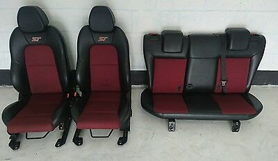 MK6 Fiesta ST150 Front & Rear Seats Black & Red - Half leather