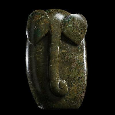 'Elephant', abstract in Verdite by Victor Mutongwizo, Shona Sculptor