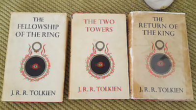 TOLKIEN: THE LORD OF THE RINGS  * RARE 1st EDITION * full trilogy