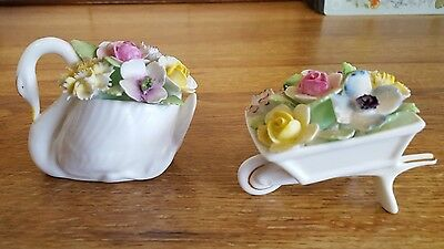 Royal doulton bone china Swan and flowers