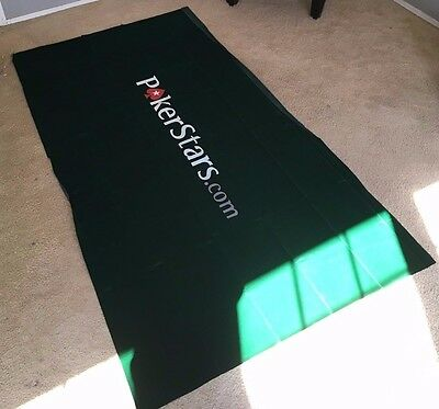 "PokerStars branded logo table felt (baize) 36""x 72"" - poker table felt - NEW"