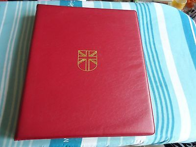 S/G great britain stamp album with lots of used stamps in