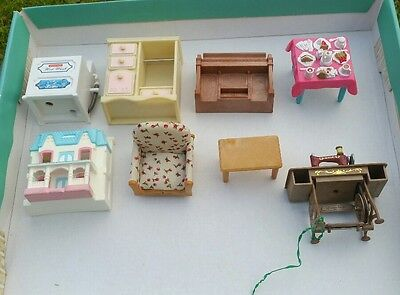 Vintage Sylvanian Family Epoch Plus Others Doll House Furniture