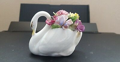 Royal adderley floral Porcelain Swan