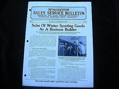 The Winchester Store Sales Service Bulletin 1924 Basketball Cardboard Sign