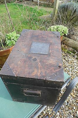 Chest Trunk coffee table Shabby chic mystery silver chest  Box vintage