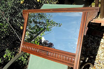 Edwardian OVERMANTLE MIRROR c1900 antique