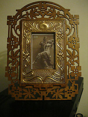 Excellent Huge  Rare, Original Art Nouveau, Arts & Crafts Photo Frame